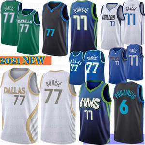 Luka NCAA 77 Doncic University Men Basketball Jerseys Kristaps 6 Porzingis Dirk 41 Nowitzki Stephen 30 Curry 2021 Hot Sale S-XXL