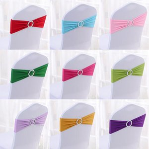 Chair Cover Sash Bands Wedding Party Birthday Chair buckle sashes Decoration Colors Available Spandex Lycra Wedding , High quality GWA2466