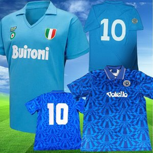 Napoli 10 Maradona 10 91 93 Soccer Jerseys 87 88 كرة القدم قميص Yakuda Best Sports Local Online Store مخصصة دروبشيبينغ