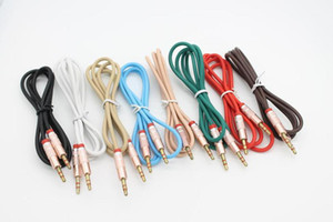 1m 3ft 3.5mm Gold-plated Plug TPE Embossed Male to Male AUX Audio Cable Cord by DHL 100+