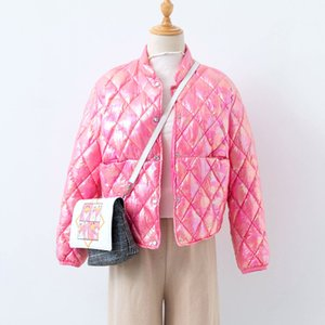 Shuchan Fashion Reflective Chaqueta Ultra-delgada Parka 90% Blanco Pato abajo Botón cubierto Cálido 2019 Invierno