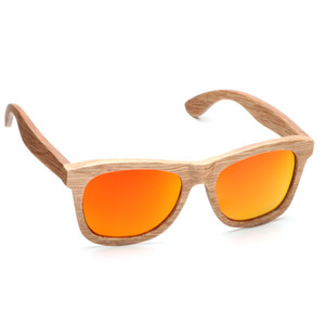 Ablibi Mens Unique 100% Natural Polarized Sunglasses with Coating Mirrored Lenses in Wood Gift Package