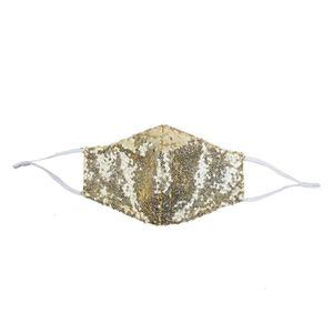 Rosto Moda Blingling Sequina Paillette DesignerMask Fábrica WashablaDúltuma Máscaras Mascarillas Protetora Ajuste