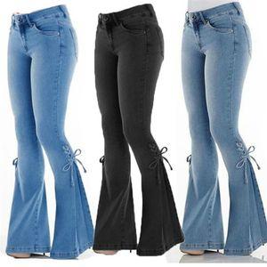 Sexy Jeans Slim Jeans Donna Plus Size Retro Bandage Blare Pantaloni Fashion Casual Donne Elasticity Denim Pantaloni