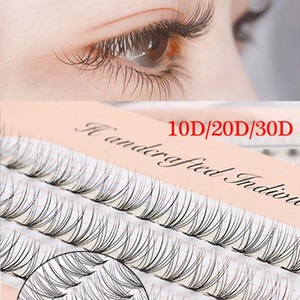 60 Clusters False Eyelashes Flare C Curl 10D 20D 30D Individual Knot Free Soft Faux Mink Hair Eye Lashes Extension Tools