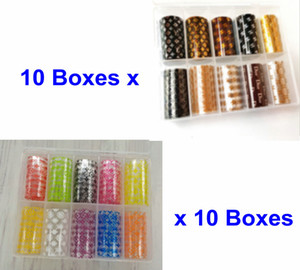 20boxes LOGO Brand Designs Nail Ar Foils GLITZY Transfer Foil Sticker Stickers Decals Wrap Nail Tip Decoration Adhesive Craft Shine New