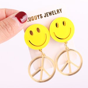 2021 Drop earrings for women with round faces, gold Mirror jewelry, fashion accessories