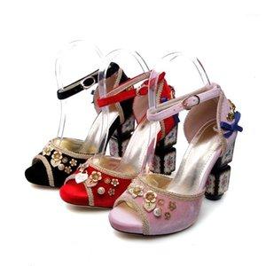 Ollymurs 2020 yeni moda kadın ayakkabı sandalet inci çiçek bow1