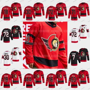 18 Tim Stuetzle Ottawa Senators 2021 Reverse Retro Thomas Chabot Matt Murray Bobby Ryan Ron Hainsey Mark Borowieck Hawryluk Tierney Jersey