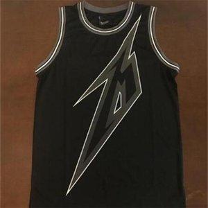 Пользовательские 604 Молодежные женщины Vintage Black 84 Metallica Ride Освещение 30-го баскетбола Размер Джерси S-4XL или пользовательское любое имя или номер Джерси