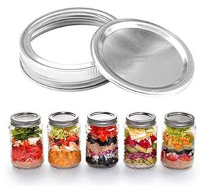 70MM 86MM Regular Mouth Canning Lids Bands Split-Type Leak-proof for Mason Jar Canning Lids Covers with Seal Rings DHC4114