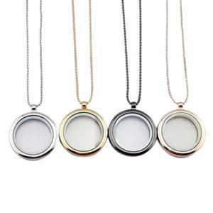 1Pc Frauen Float Locket Halsketten Hot-Glas-Charme-Speicher-hängende Kette Halskette Modeschmuck