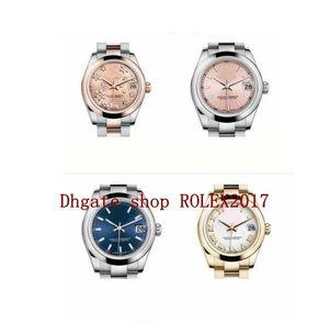 Ladies más vendidas 31 mm números romanos Diamond Bisel Decorative Pattern Watches Classic 178241 Rose Gold Asia 2813 Automationi Watch