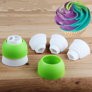 Tricolor Converter Nozzle Adapter Cake Baking Tool Decoration Cream Jam Pastry Bag Large Connector Home And Garden 0 95mr K2