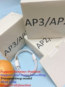 Gürültü Azaltma H1 Çip Hava Pro Gen 3 AP3 Kulakta Kablosuz Şarj Bluetooth Kulaklıklar PK I12 TWS Xiaomi Pods 2 AP2 Kulakiçi 2. Nesil