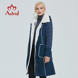 Kış Boyutu JAS Artı Astrid Parka 2019 Deri Giyim Nieuwe Effen AM-2082 Kadın Ioviv