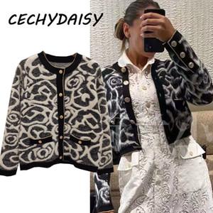 Кардиганские женские взлетно-посадочные полосы 2020 мода высококачественный дизайнер одежды кнопки вязаные свитер Куртки повседневные Zaful Femme Chandails LJ201112