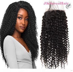 10A Grade Curly Wave Brazilian Virgin Human Hair 4x4Inch Lace Closure Malaysian Indian Peruvian Hair Closure With PrePlucked Hair