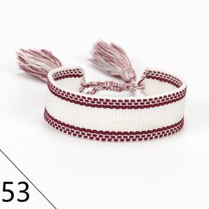 New hot Embroidered letters Bohemian Thread Bracelet Retro Handmade Boho Multicolor String Cord Woven Braided Friendship Bracelets Women Men
