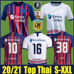 2020 2021 San Lorenzo de Almagro Jersey di calcio A.Romero Fernandez Camicie da calcio Blandi O.Romero Uniforme Camiseta de San Lorenzo 20/21