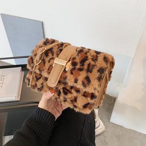 Toposhine 2020 Winter Fashion New Sweet Girl Square bag High quality Soft Plush Women's Designer Handbag Casual Shoulder Bags