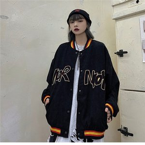 Fashion 2020 New Corduroy Jacket Men Women Harajuku Style Loose Spring Autumn Korean Top Jacket ins 2020 New Baseball Uniform Hot Sale