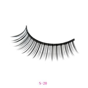 Eyelashes hand-made natural long lengthing false eyelashes thick soft comfortable spiky sticky for eye make-up S-20 S-21 S-22 S-22