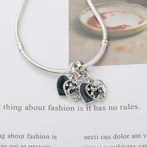 Two Charm Dangle Bead Fashion Women Jewelry European Style For DIY Bangle Bracelet
