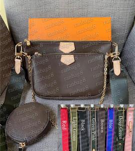 Borse di moda Multi Pochette Borsa a spalla preferita Borse a tracolla 3pcs Accessori Borsa a tracolla con scatola 44813 PIÙ Colori Cintura 44840