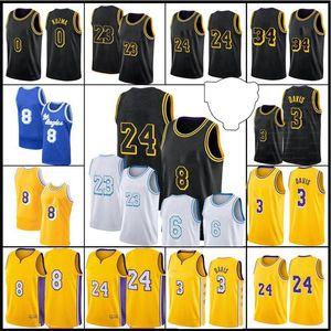 23 Spieler Los Mens Angeles Jersey Alex 4 Caruso Jersey Kyle 0 Kuzma Anthony 3 Davis 2021 New Black 6 32 34 Name Basketball Jersey