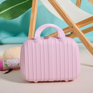 Cosmetic case portable small carry on 14 inch suitcase mini female makeup suitcase storage bag1