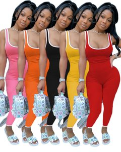 Womens Solid Color Jumpsuit Casual Sleeveless Leotard Open Back Jumpsuit Ladies Club Wear Slim Fit Hot