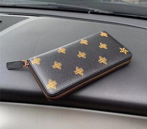 Kostenloser Versand weltweit Größe 19 cm Klassische Mode Leder Reißverschluss Brieftasche Kartenhalter Key Case Beste Qualität Münz Geldbörse Kupplung