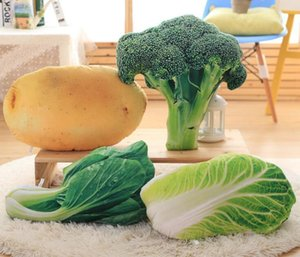 3D Vegetables Cushion Creative Decorative Pillow Plush Toy Potato Cabbage Broccoli Office Sofa Cushion Funny Home Decoration