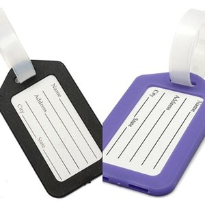 U Factory Name Plastic Holder Labels Strap Address ID Suitcase Portable Tag Baggage Travel Luggage label 3U