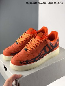 Best Custom 1 Niedrige Ass Sneakers Time Out Airs Eine brillante orange Männer Laufschuhe zwingt Trainer 1s Sports Skate Größe 36-45FA