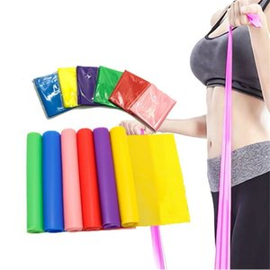 5pcs Flat Resistance Band Pilates Yoga Elastic Band Exercise Equipment Straight Stretching Fitness Training for Full Body Leg Cr Z1125