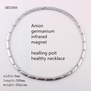 mens steel Quartz Healing Point Chakra stainless steel Anion germanium infrared Massage Therapy germanite health bangle bracelet for man boy