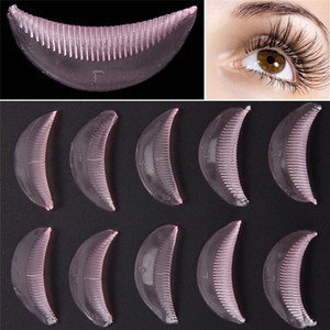 5 Pairs New Silicone durable eyelash permanent Perm Curler Curling Root Lifting False Fake Eyelash Shield Pad maquillaje patches