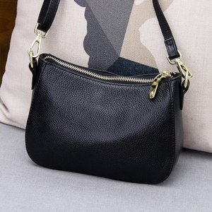 Small bag 2020 New Genuine Leather hand Bag female all-match Mini diagonal saddle #L144