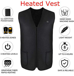 Electric Heated Vest USB Port Heated Jacket Rechargeable Washable Lightweight Heated Vest for Women Men Winter FS9125