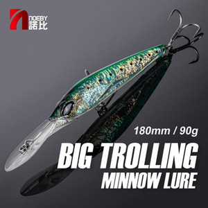 Noeby NBL9485 newest fishing lure minnow hard creature artificial baits sea trolling lure 180mm 90g sinking for tuna bluefish Q1123
