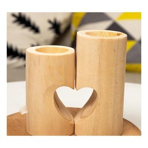 wooden tea light candle holder heart hollowed-out candlestick romantic table decoration for home birthday party wedding decoration