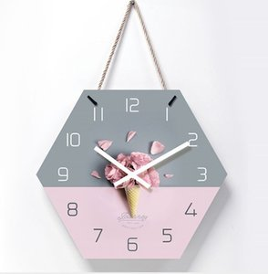 14 inch brief silent wall bedroom clock home living room decorative clocks hanging watch with rope