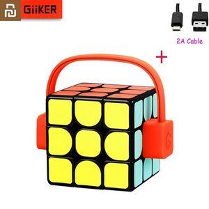 Youpin Giiker Super Smart Cube App 원격 Comntrol Professional Magic Cube Puzzles Man, Women Y200428 용 다채로운 교육 완구
