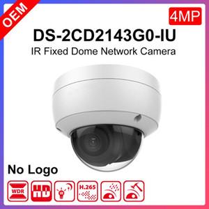 Telecamere Hikvision OEM Versione DS-2CD2143G0-IU 4MP PoE IR Dome WDR Videocamera di rete fissa con microfono incorporato
