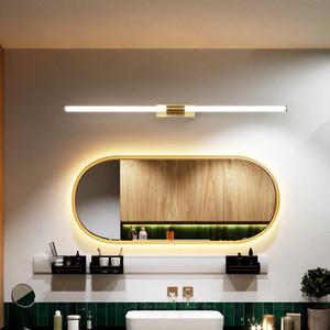 Fanpinfando or moderne LED salle de bain miroir lumière or chambre dressing table miroir lampe entrée couloir éclairage