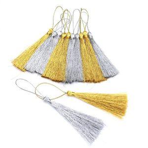 15 pcs ouro silk prata seda borla pingente jóias cortina de fragmentos decorativos acessórios chave saco chave pingente artesanato borls diy h bbynto