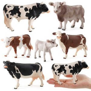 Zoo Farm Fun Toys Model for Children Kids Baby Cow Action Figure Simulated Animal Figurine Plastic Models Educational Toys Gifts