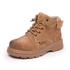 SANDQ Baby Boys Boots Boots Boots Натуральная Кожа Зимняя Обувь для Детских Чассуре Запато Детская Обувь Девушки Ботинок Теплый Y1116